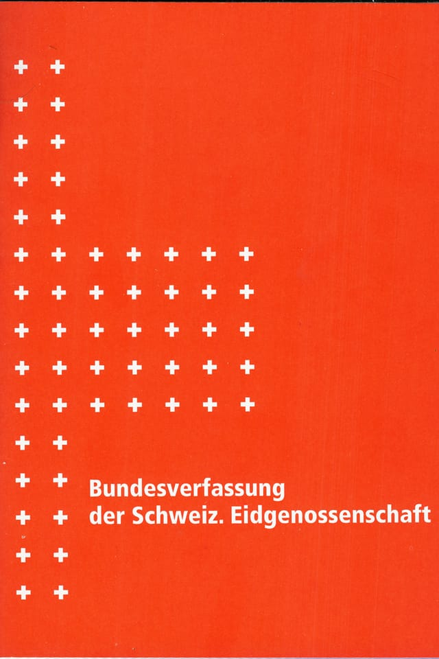 Titelblatt der Bundesverfassung von 1999