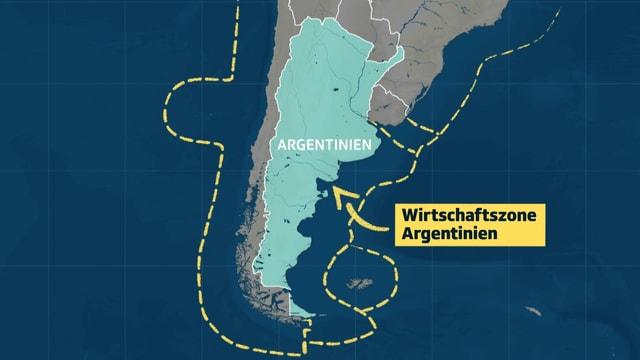 Jeder Küstenstaat hat Anspruch auf eine Wirtschaftszone. Das sind 200 Seemeilen vor der eigenen Küste. Das sind 370 Kilometer.