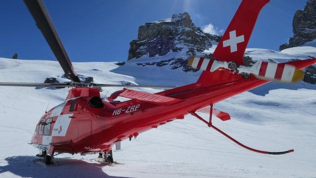 In helicopter da la Rega.