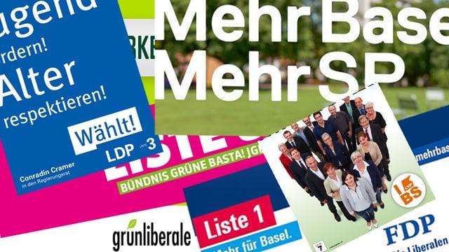 Collage mit Wahlplakaten