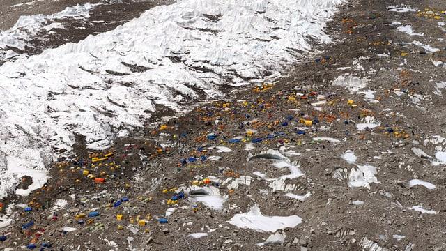 Blick auf das Mount Everest-Basecamp