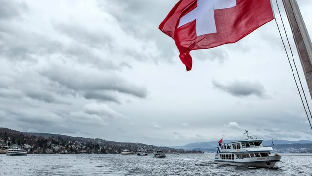 Schiffe auf Zürichsee