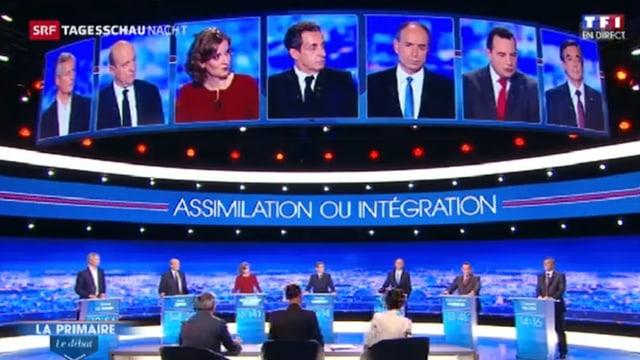 Prima debatta tranter ils set candidats a la televisiun per il presidi franzos.