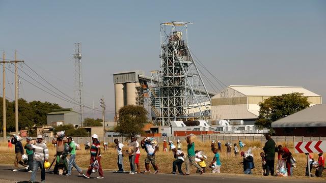 Mine in Südafrika.