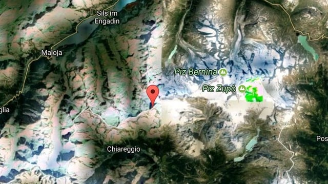 Ina carta da google maps che mussa la posiziun dal Piz Tremoggia.