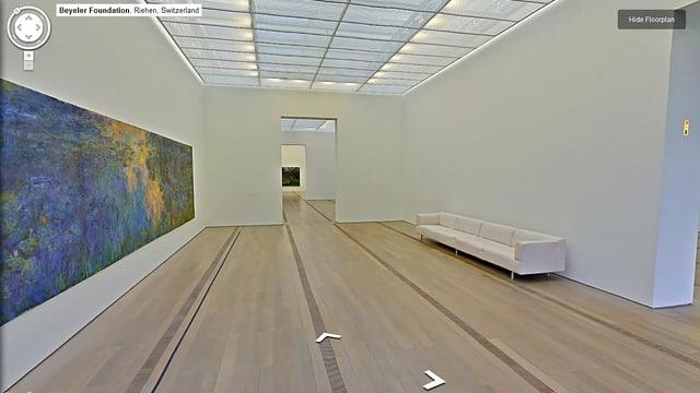 Virtueller Rundgang bei Google durch die Fondation Beyeler in Riehen, BS.