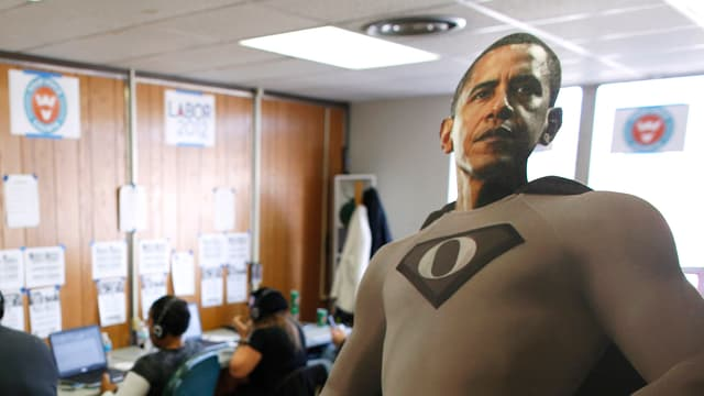 Karton-Obama.