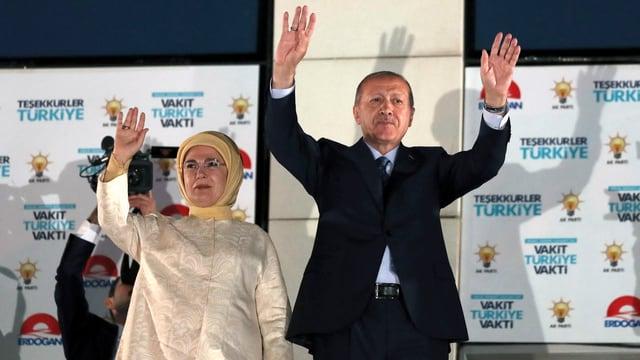 Erdogan und Ehefrau Emine