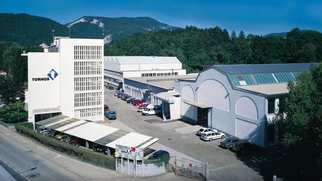 Aussenansicht der Tornos-Fabriken in Moutier