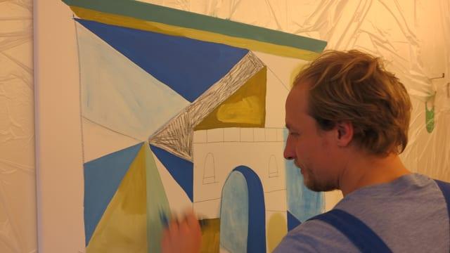 Artist vid picturar