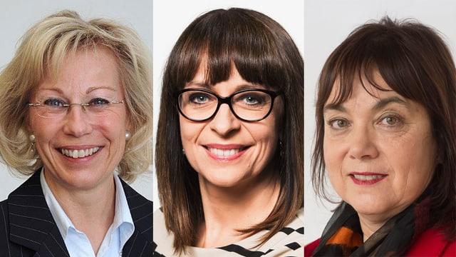 Bildcollage mit Porträtfotos von drei Frauen.