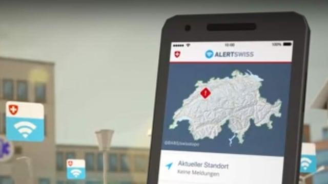 Handy mit der App «Alert Swiss»