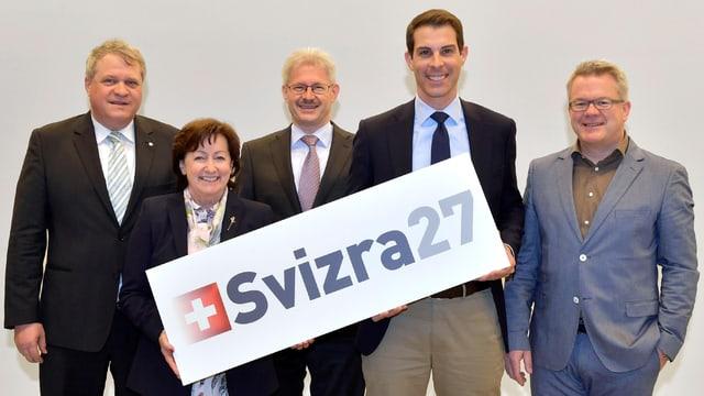 Die Vorstandsmitglieder von «Svizra 27»