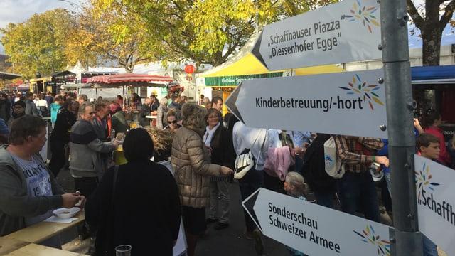 Grossandrang: Die Schaffhauser Herbstmesse zog so viele Leute an wie noch nie.