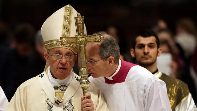 Papst Franziskus im Rahmen der Gedenkmesse.