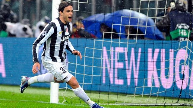 Alessandro Matri bringt Juventus im Rückspiel in der 24. Minute in Führung.