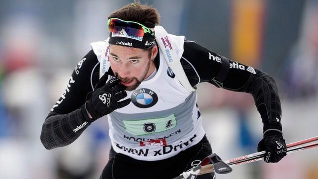Benjamin Weger beim Weltcup-Rennen in Antholz