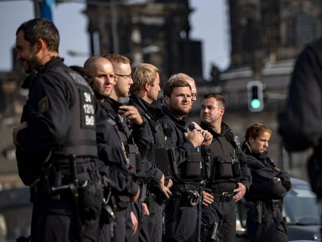 Polizisten in Dresden
