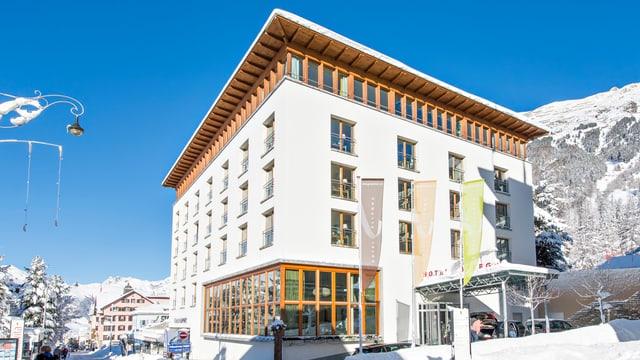 L'hotel Allegra a Puntraschigna.