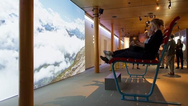 Blick in die Ausstellung über Wetterphänomene im Forum Schweizer Geschichte in Schwyz.