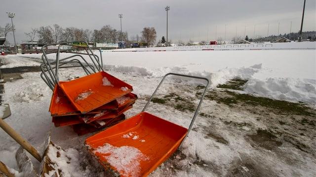 Verschneites Brügglifeld im Dezember 2012