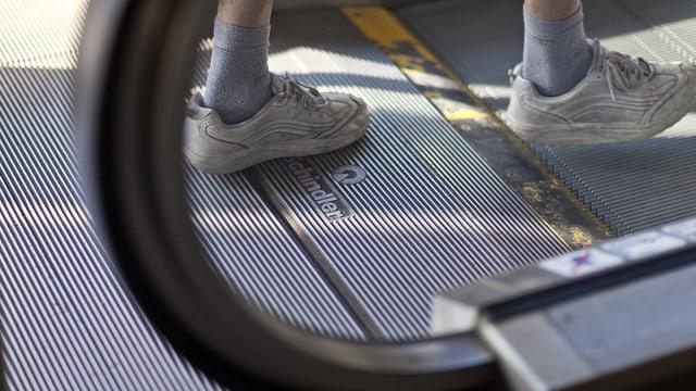 Eine Schindler-Rolltreppe