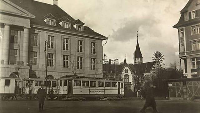 So sah der Bahnhofplatz 1918 aus