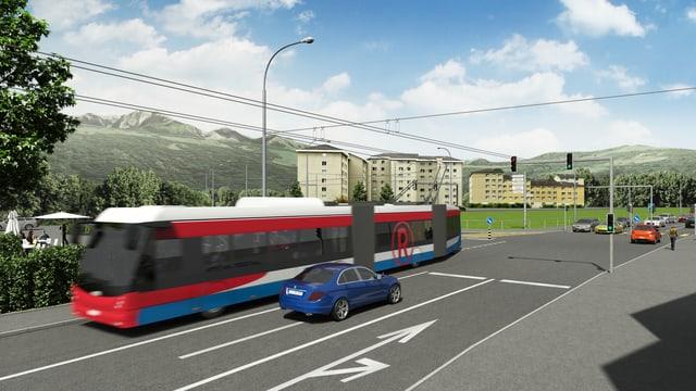 Visualisierung des neuen Trolleybusses für die Linie 1