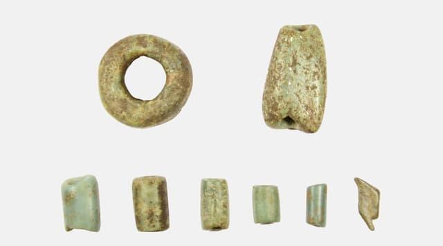 ein Scan von verschiedenen Fundstücken aus Jade
