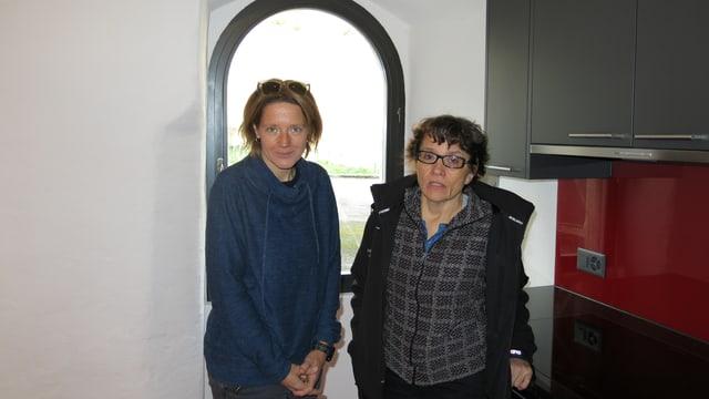 Danielle Wanzenried, Co-Präsidentin Genossenschaft; Elisabeth Aellen, Architektin