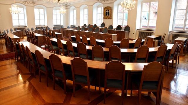 Blick in den Kantonsratssaal.