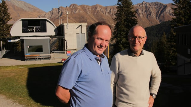 Robert Berni e Stefan Schmid avant la pendiculara che arriva si Gadastatt