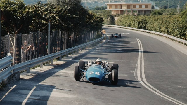 Guy Ligier 1966 in einem Cooper T81-Maserati.
