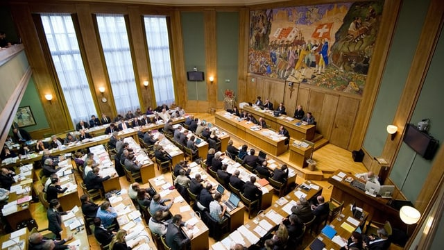 Blick in den Walliser Grossratssaal.