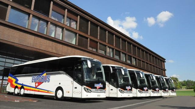 Bus da Eurobus a Windisch sper la sedia da l'interpesa.
