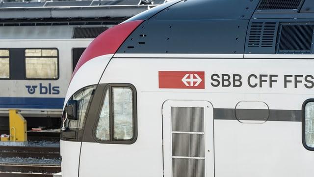 Züge der BLS und der SBB