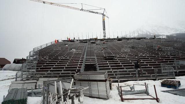 Piste gut. Schnee gut. Adelboden macht sich bereit für die Weltcuprennen am Wochenende.