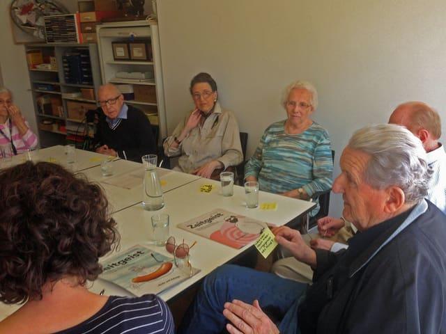 Alterszentrum, Geschichten erzählen