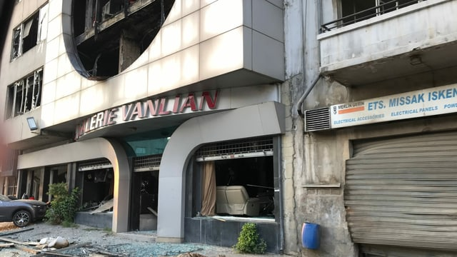 Zerstörung an Gebäude