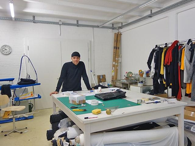 Blick in das Atelier von Sandro Marzo.