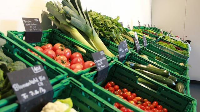 Gemüse in der Auslage.