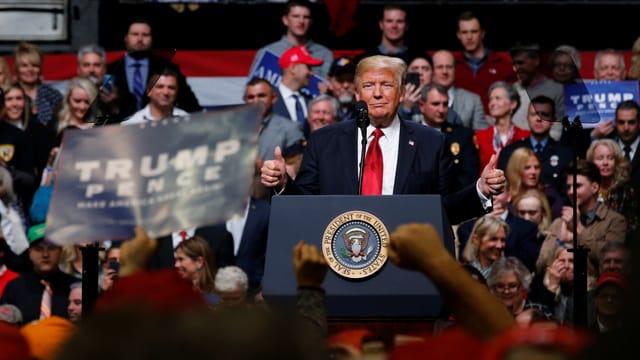 Donald Trump während seiner Rede in Tennessee.