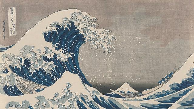 Holzschnitt von einer Welle