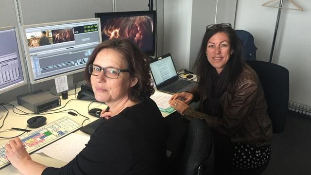 Cutterin Hedwig Bäbler (links) und Filmautorin Michèle Sauvain.
