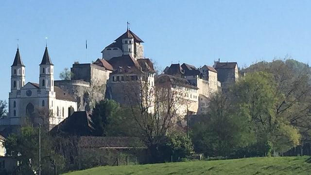 Die Schlossanlage oberhalb von Aarburg