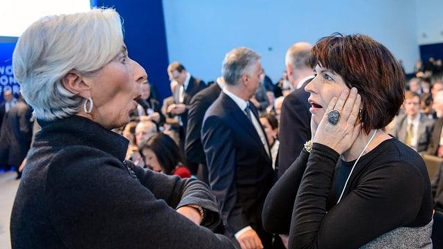 Währungsfondschefin Christine Lagarde (rechts) und Bundesrätin Doris Leuthard