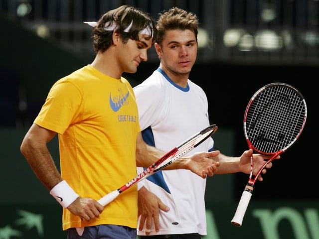 Federer und Wawrinka 2005