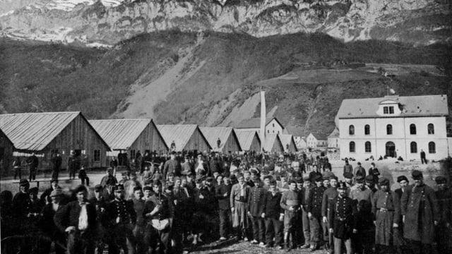 internierte Soldaten der französischen Ost-Armee in Walenstadt