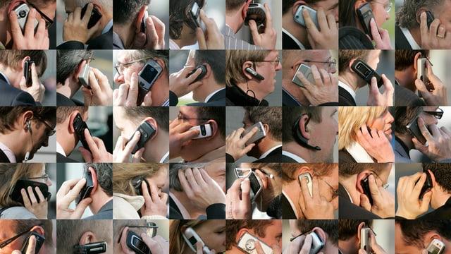 bleras persunas telefoneschan cun telefonin