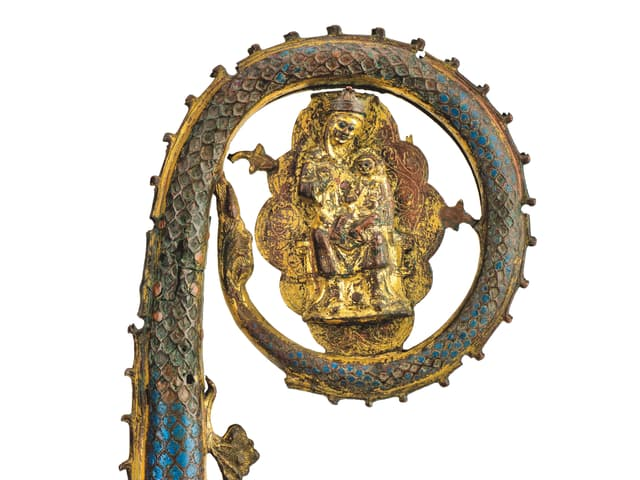 Krümme Bischofsstab, vergoldet